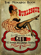 Burlesque Metal Prints - Burlesque Club Metal Print by Cinema Photography
