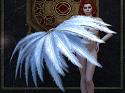 Nude Fantasies Posters - Burlesque Feather Dancer Poster by Alexander Butler