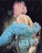 Burlesque Painting Metal Prints - Burlesque I Metal Print by John Silver