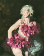 Burlesque Painting Metal Prints - Burlesque II Metal Print by John Silver
