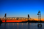 Delaware River Framed Prints - Burlington Bristol Bridge Framed Print by Olivier Le Queinec
