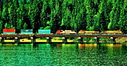 Lake Pend Oreille Prints - Burlington Northern Print by Benjamin Yeager