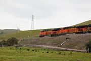 Santa Fe Framed Prints - Burlington Northern Santa Fe BNSF Locomotives at Fernandez Ranch California - 5D21041 Framed Print by Wingsdomain Art and Photography