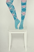 Turquoise Posters - Burlington Socks Poster by Joana Kruse