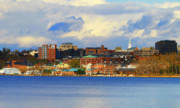 City Buildings Posters - Burlington Vermont Lakefront Poster by Deborah Benoit