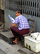 ArtPhoto-Ralph A  Ledergerber-Photography - Burmese Man Reading...