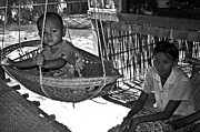 Bamboo House Photo Prints - Burmese mother and son Print by RicardMN Photography