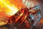 Magic The Gathering Posters - Burn Poster by Ryan Barger