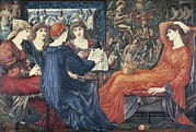 1833 Prints - Burne-jones, Edward Coley 1833-1898 Print by Everett