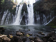James Rishel Metal Prints - Burney Falls - The Eighth Wonder of the World Metal Print by James Rishel