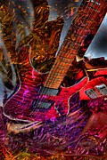 Burnin It Up Digital Guitar Art By Steven Langston Print by Steven Lebron Langston