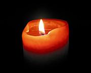 Burning Candle Print by Elena Elisseeva