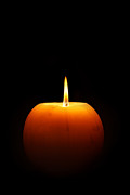 Burning Candle Print by Johan Swanepoel