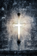 Cross Photo Metal Prints - Burning Cross Metal Print by Joana Kruse