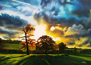 Realistic Landscape Paintings - Burning Desire by Jackie Mestrom