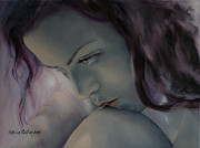 Burning In The Shadow Print by Dorina  Costras