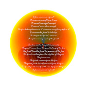 Burning Orb With Poem Print by Brent Dolliver