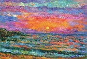 Impressionism Prints - Burning Shore Print by Kendall Kessler