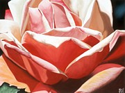 Photorealistic Posters - Burnished Rose Poster by Sharon Von Ibsch