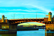 Willamette Framed Prints - Burnside Bridge Framed Print by Art Kardashian