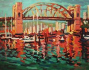 British Columbia Sculpture Prints - Burrard St. Bridge Print by Brian Simons