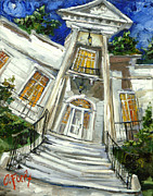 Moonlight Paintings - Burritt Museum by Carole Foret