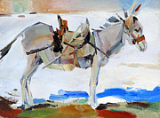 Picture Drawings Originals - Burro by Alexander Maslik