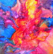 Swirling Prints - Burst Print by Debi Pople