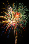 Pyrotechnics Metal Prints - Bursting in air Metal Print by Garry Gay