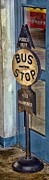 Stop Sign Photos - Bus Stop by Arnie Goldstein