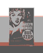 Silver Screen Posters - Bus Stop Poster by Cheryl Young