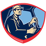 Bus Prints - Bus Truck Driver Side Shield Print by Aloysius Patrimonio