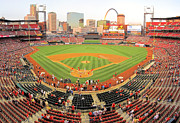 Ballpark Prints - Busch Stadium Print by C H Apperson
