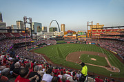 St.louis Cardinals Framed Prints - Busch Stadium Cardinals 2 Framed Print by David Haskett