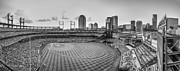 St.louis Cardinals Framed Prints - Busch Stadium Cardinals Pano Framed Print by David Haskett