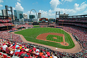 Ballpark Prints - Busch Stadium Print by Mark Whitt