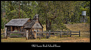 Old House Photographs Posters - Bush School House Poster by Kim Andelkovic