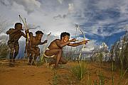 Tribal Art Photos - Bushmen - Desert Hunters 02 by Basie Van Zyl
