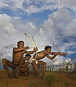 Tribal Art Photos - Bushmen - Desert Hunters 03 by Basie Van Zyl
