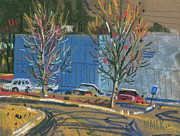 Building Painting Originals - Business Park by Donald Maier