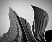 Enterprise Metal Prints - Business skyscrapers abstract conceptual architecture Metal Print by Michal Bednarek
