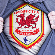 Businessman Cardiff City Fan Print by Antony McAulay