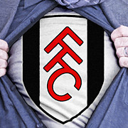 Shirt Digital Art Framed Prints - Businessman Fulham Fan Framed Print by Antony McAulay