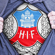 Footie Prints - Businessman Helsingborg Fan Print by Antony McAulay