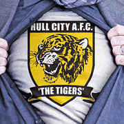 Footie Framed Prints - Businessman Hull City Fan Framed Print by Antony McAulay
