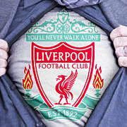 Liverpool Football Prints - Businessman Liverpool Fan Print by Antony McAulay