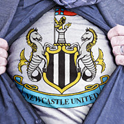 Footie Prints - Businessman Newcastle United Fan Print by Antony McAulay