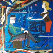 John Lyes Originals - Businessman Sitting in Chair by John Lyes