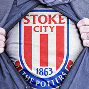 Footie Prints - Businessman Stoke City Fan Print by Antony McAulay
