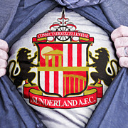 Shirt Framed Prints - Businessman Sunderland Association Fan Framed Print by Antony McAulay